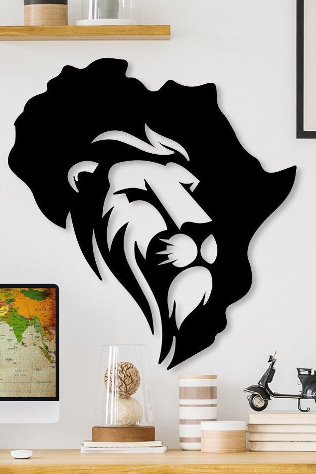 Excited To Share This Item From My Etsy Shop Ditcowest Metal Wall Art Lion Metal Lion Head Ge Metal Wall Art Decor Black Metal Wall Art Wall Painting Decor