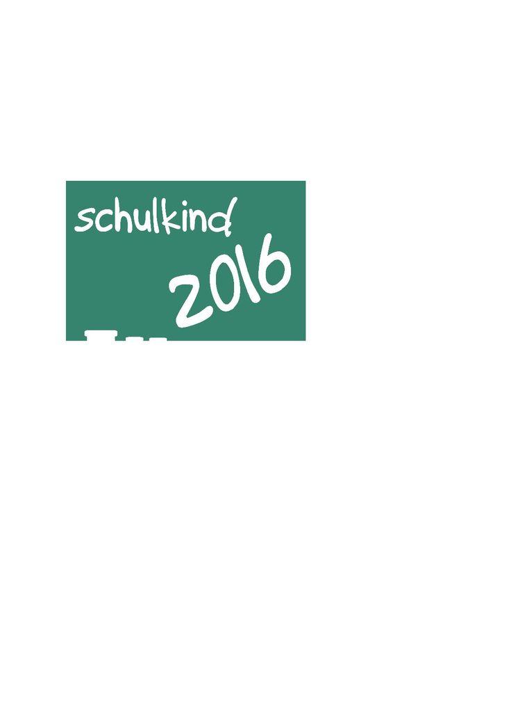 Bügelbild Schulkind 2016 auf Tafel. Jetzt Neu bei Dawanda.de