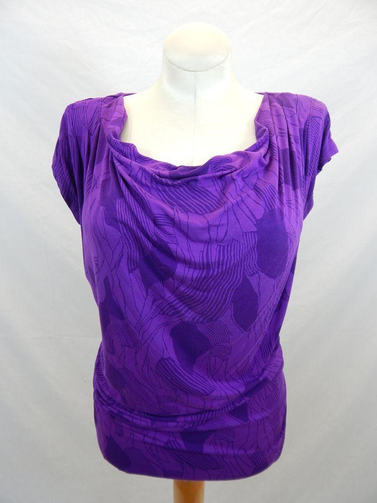 Purple Patterned Nursing Top