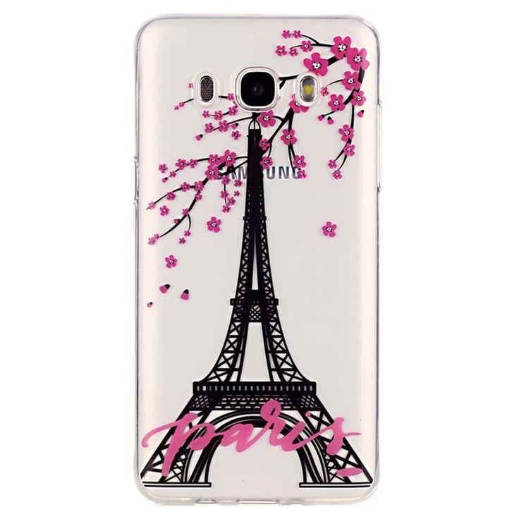 Samsung Galaxy J5 (2016) TPU Hülle - Eiffelturm