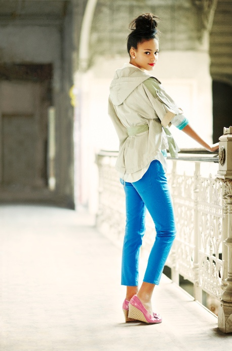 neutrals & pop colors #collectionbColors Collectionb, Blue Demin, 2012 Collection, Demin Collectionb, Blue Crop, Book, Pop Colors, Hawt Clothing, Neon Blue