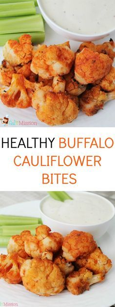 An absolutely delicious and easy healthy buffalo cauliflower bite recipe! Same flavor as buffalo wings or buffalo chicken dip - just healthier!