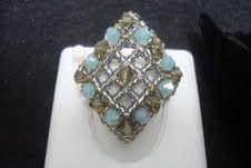 anel de cristais swarovski