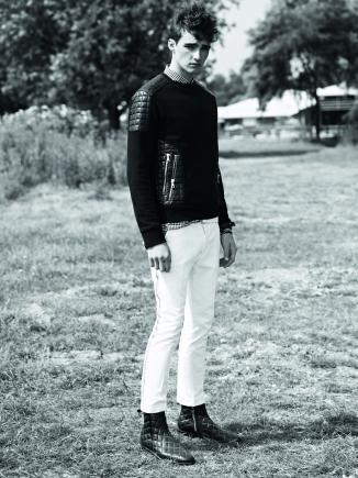 Karim Sadli for Balmain Homme Spring/Summer 2014