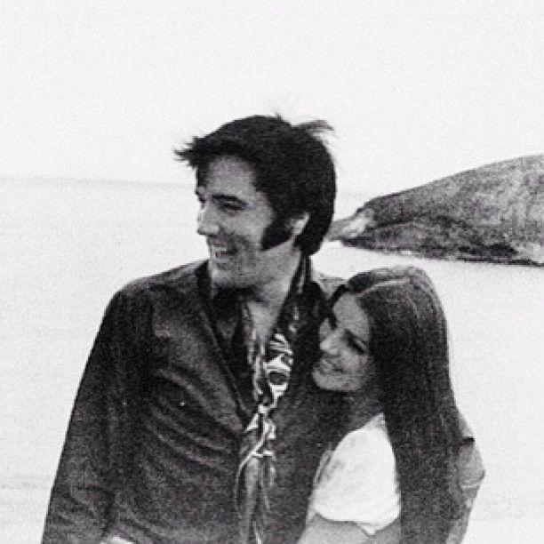 1968 Elvis and Priscilla at the Hanauma Bay lookout point Hawaii