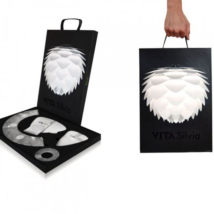 Suspension Design Silvia Blanc Cuivre Noir Drawer