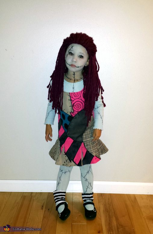 Holly: My 3-year-old daughter chose to be Sally from Nightmare Before Christmas. She has loved the movie since she was 2! Unable to find a toddler size costume to purchase, I...