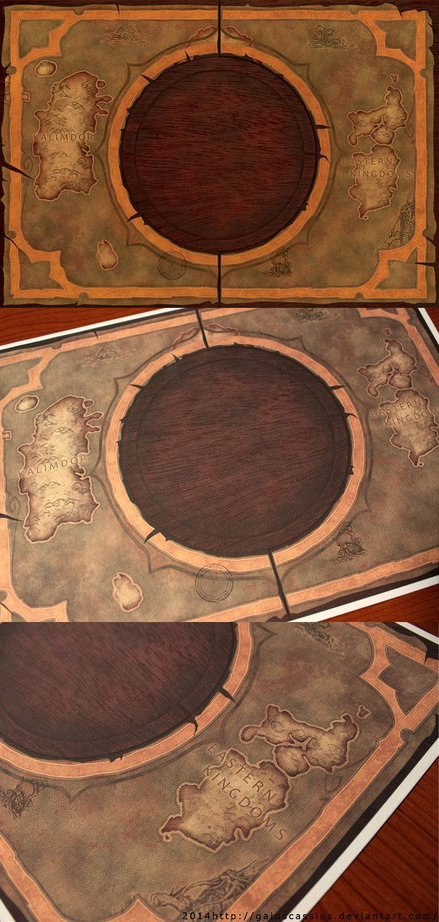 Hearthstone Azeroth map - printed on canvas (A4) by CassiusProps