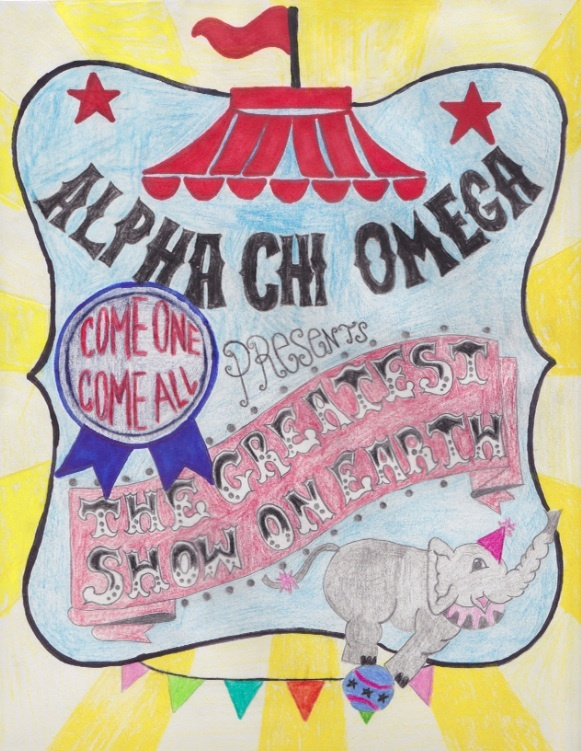 Alpha Chi Omega Circus themed Recruitment Banner