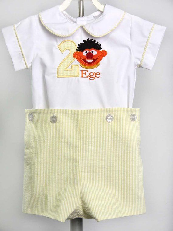 Sesame Street 1st Birthday Outfit Boys First Birthday Outfit First