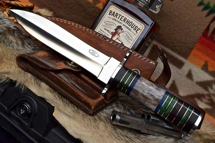 CFK USA Custom Handmade D2 Western Medicine Man Dagger Fairbairn Combat Knife #CFKCutleryCo