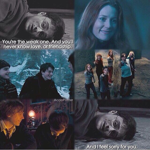 """Harry Potter and the Order of the Phoenix ~ """"You're the weak one. And you'll never know love, or friendship. And I feel sorry for you."""" -Harry Potter"""