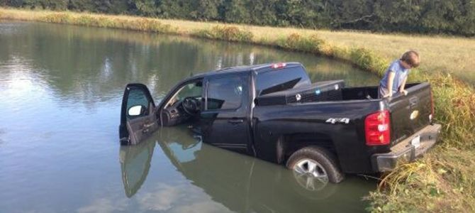 Luke Bryan: Crash my Truck—Into a Pond - Country Weekly...omg!!! not the big black jacked up truck! :/
