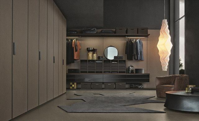 POLIFORM: Senzafine Tess wardrobe, Ubik walk-in, Santa Monica armchair and Soori small table