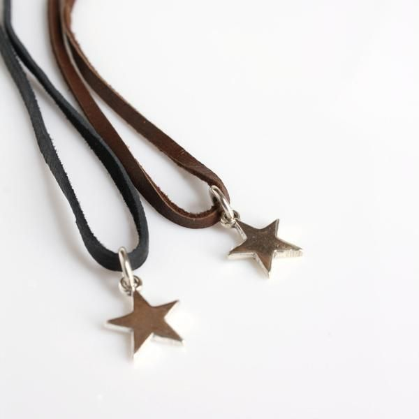 Silver Star Leather Necklace / Leather And Sterling #starnecklace #leathernecklace #silverstar #leatherchoker #sterlingandleather
