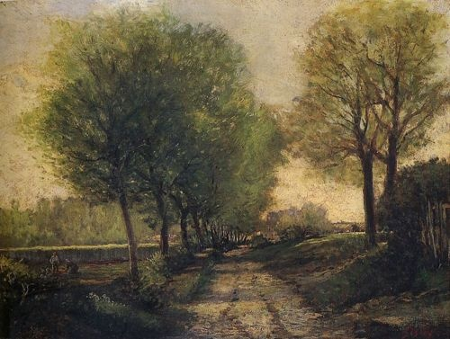 Lane Near a Small Town by Alfred Sisley, c.1864 #art #painting #nature #Impressionism #Alfred #Sisley