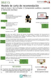 DELE C1: Modelo de carta (2) | Piktochart Infographic Editor