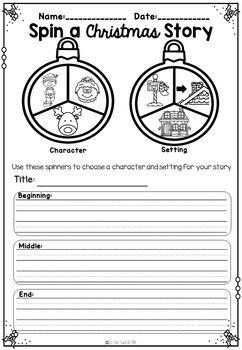 Spin A Christmas Story activity ~Narrative... by Get Your Teach On | Teachers Pay Teachers