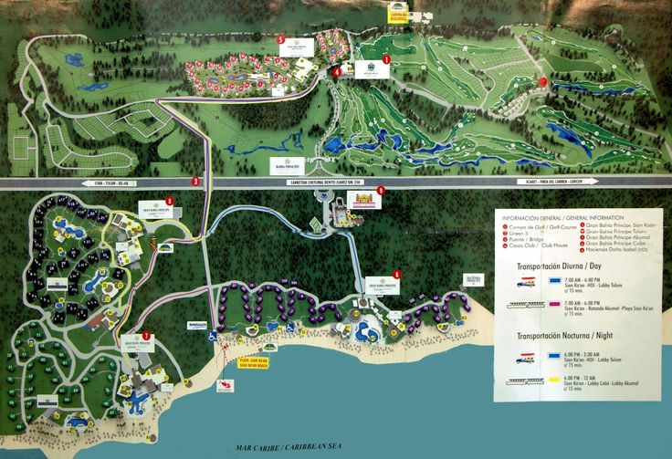 Map Layout Luxury Bahia Principe Sian Ka'an