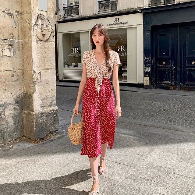 Floating Around Paris In The Miraeparis Francoise Fushia Dress Did You Catch My Studio Visit Parisian Style Summer Vintage Style Dresses French Girl Style