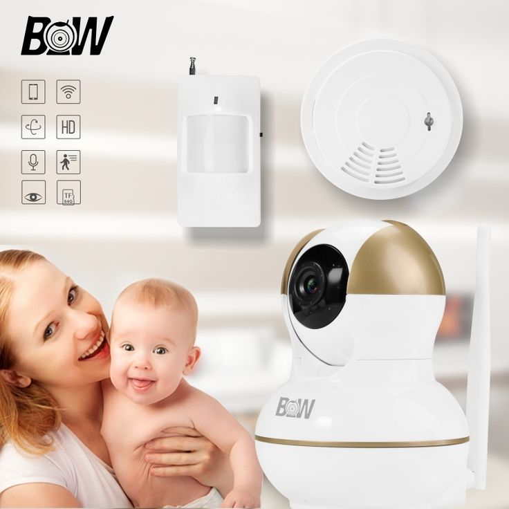 (68.47$)  Watch now - http://ai0ss.worlditems.win/all/product.php?id=32697365222 - Wireless Camera Infrared Sensor Alarm Remote Control Wifi Camera Security System +PIR Sensor/Smoke Detector CCTV Monitor BW12G