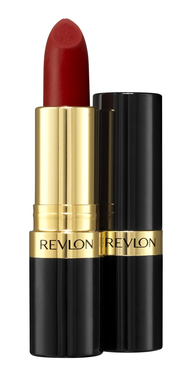 "Revlon Matte Lipstick ""Really Red"" is a ""true retro red"" that was actually used on the actresses of Mad Men to get an authentic look of the 60's era."
