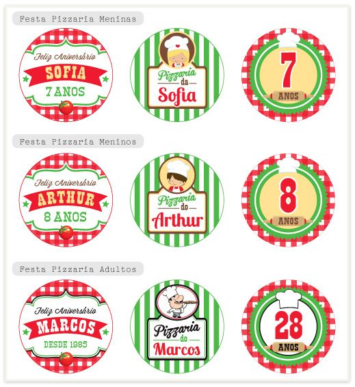 Festa Pizzaria Personalizada