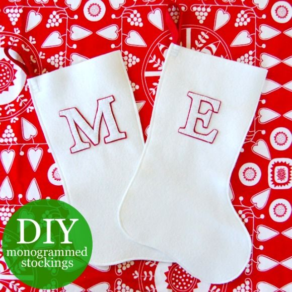 DIY Monogrammed Christmas Stockings « oh my! handmade goodness