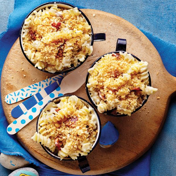 Preparation time:15 minutesTotal time:35 minutesMakes:4 Servings Crunchy Bacon Macaroni & Cheese Ingredients 1 500-g pkg PC® black label Elich