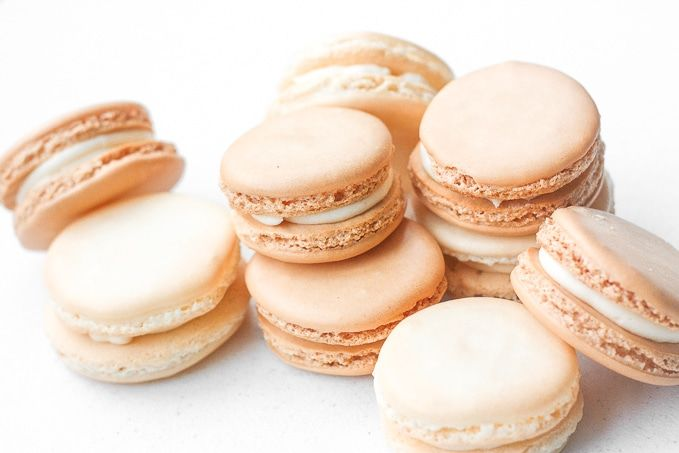 Every bite of this sweet, classic french macaron with vanilla buttercream filling is melt-in-your-mouth goodness.