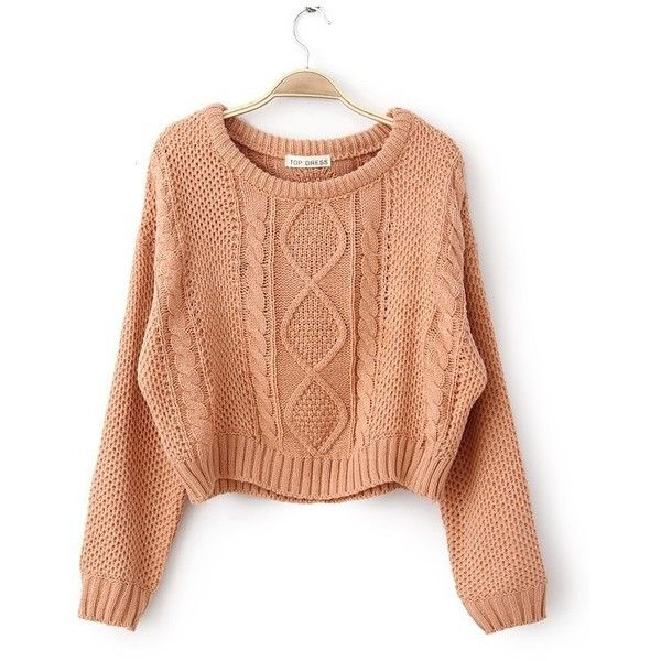 Round Neck Knitted Pullover Jumper Loose Batwing Short Sweater... ($119) ❤ liked on Polyvore featuring tops, sweaters, batwing sweater, loose fit sweater, red sweater, red top and red pullover sweater