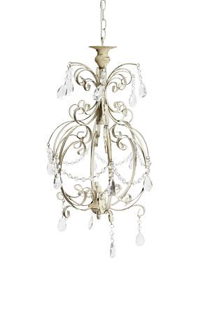 """This classic wrought iron chandelier with acrylic crystal look beads is a decorative lighting solution for any home interior setting.<BR><BR>Mr Price Home is NRCS (SABS) compliant.<div class=""""pdpDescContent""""><BR /><b class=""""pdpDesc"""">Dimensions:</b><BR />L124xW65xH124 cm</div>"""