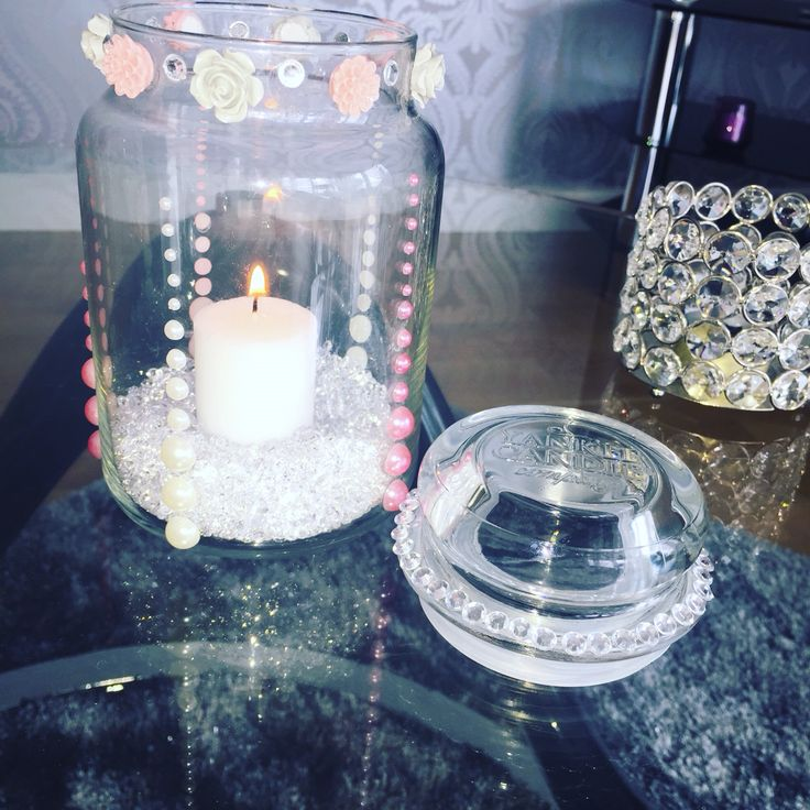 Re use your Yankee candle jar! #inspo #diy #homedecor