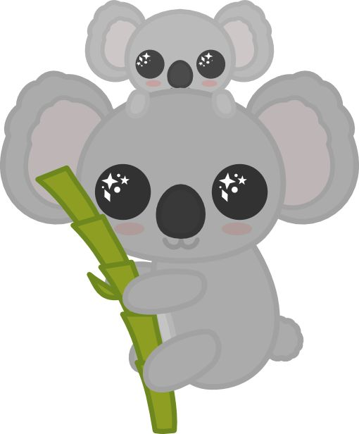 Koala Illustration Cute Wombat Funny Koala