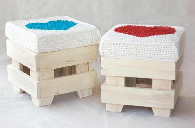 Como criar um pufe com pallets reciclados