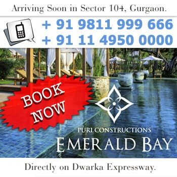 Puri Emerald Bay a new residential project from Puri Constructions offering luxurious residential apartments with all basic facilities and amenities at very attractive price points.