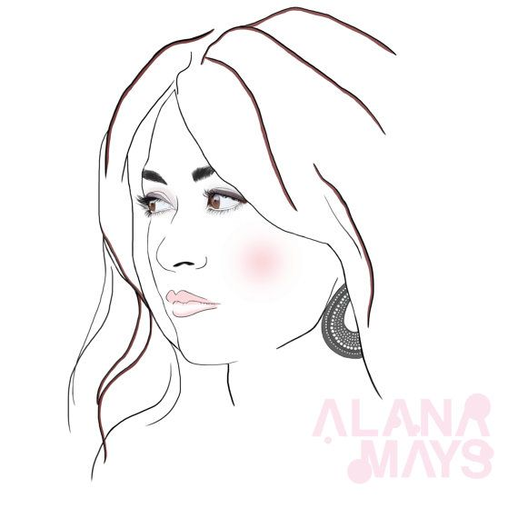 Comissioned digital portrait by AlanaMaysCreations on Etsy from $100, etsy business, personalized portrait, custom made art, fashion illustration, illustrator, fashion illustration, printable wall art