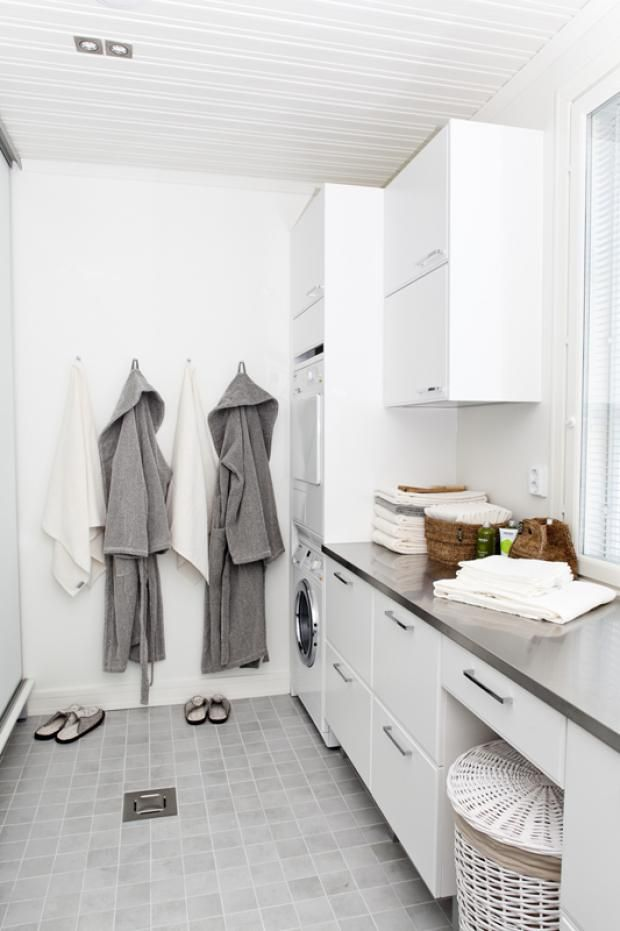 Combined laundry/bathroom