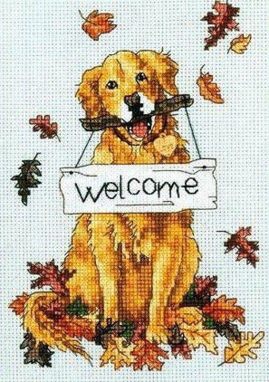 Solo Patrones Punto Cruz (pág. 63) | Aprender manualidades es facilisimo.com. Welcoming dog #1