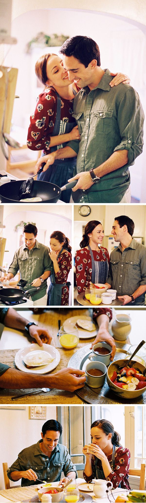 Cute at home engagement session! via Braedon Photography