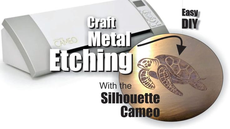 DIY craft Metal Etching with the Silhouette Cameo cutting machine