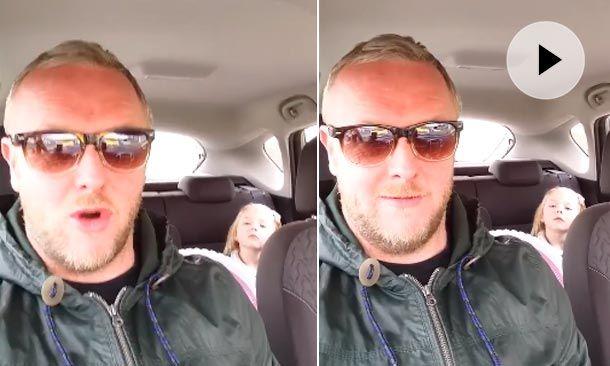 Este divertido papá de Escocia se enfrasca en una divertida discusión con su hija de cuatro años cuando la niña declara que quiere tener un novio.