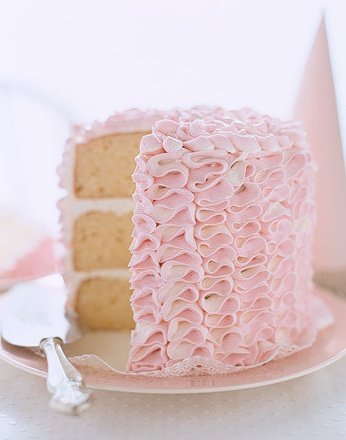 Pastel Pink Cake Waves