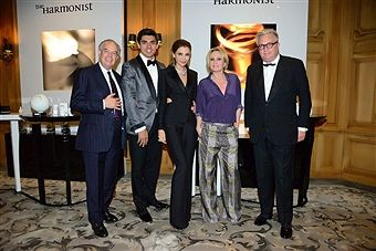 at the hotel George V Four seaons in Paris evening gala for the perfums The Harmonist by Lola Karimova-Tillyaeva on July 7, 2016. Frederic Mitterrand, Timur Tillyaev, Lola Karimova-Tillyaeva , Patricia Kaas, Prince Laurent de Belgique.