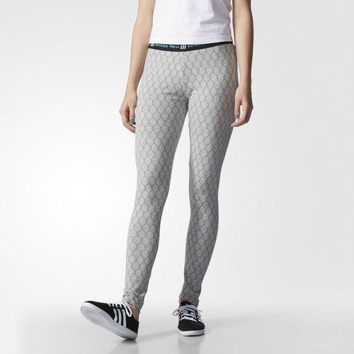 Super adidas Printed Hiri Printed Tights Sportswear for Women Shop Womens Sportswear COLOUR-white/black
