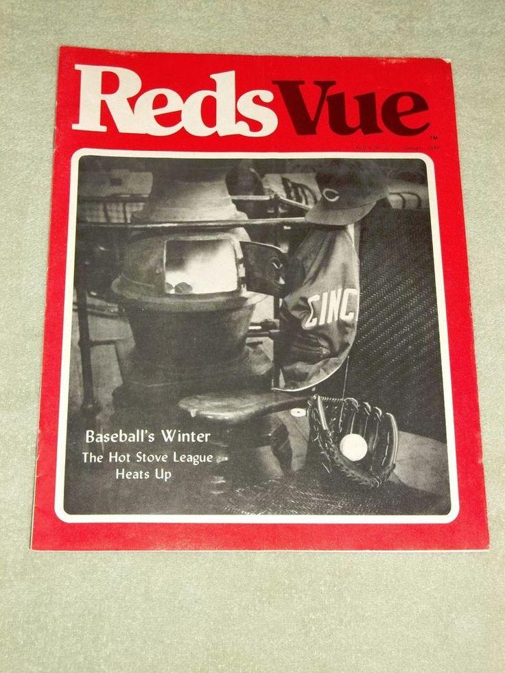 Vintage January 1981 Cincinnati Redsvue Magazine Vol 3 No 2 Ohio Oh Cincinnati Reds Baseball Reds Baseball Vintage Sports