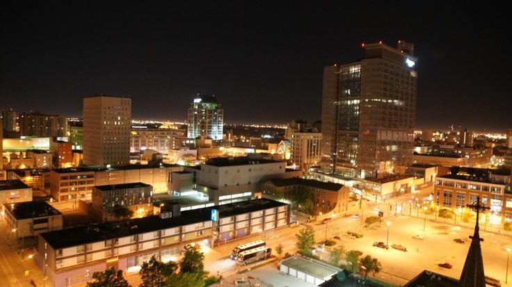 View from Delta Winnipeg:  Downtown #Winnipeg looking west