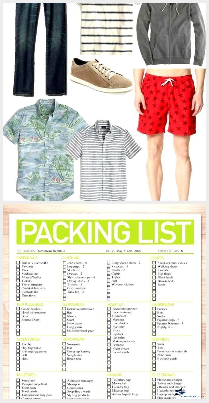 Shopping Travel Packing Lists Mens Packing Lists Packing Lists For Travel H Ultimate In 2020 Packing List For Travel Camping Packing List Packing List For Vacation