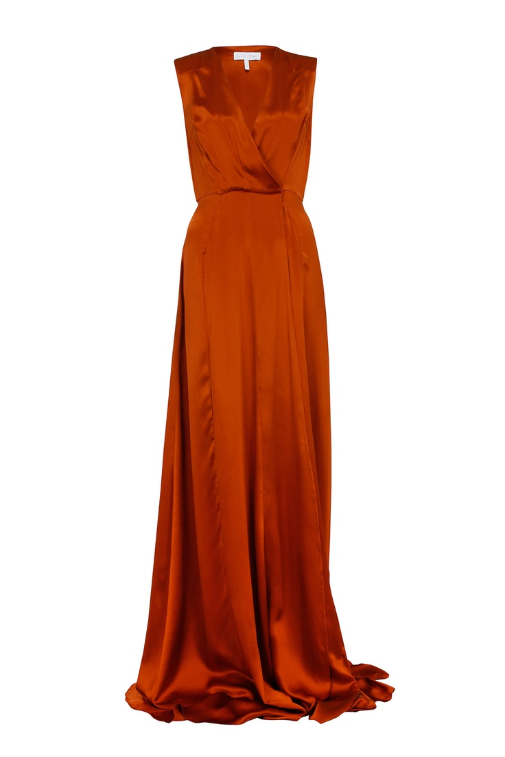 Best 25 burnt orange dress ideas on pinterest fall clothes adriana lima wows in beautiful floor length gown orange weddingwedding ombrellifo Images