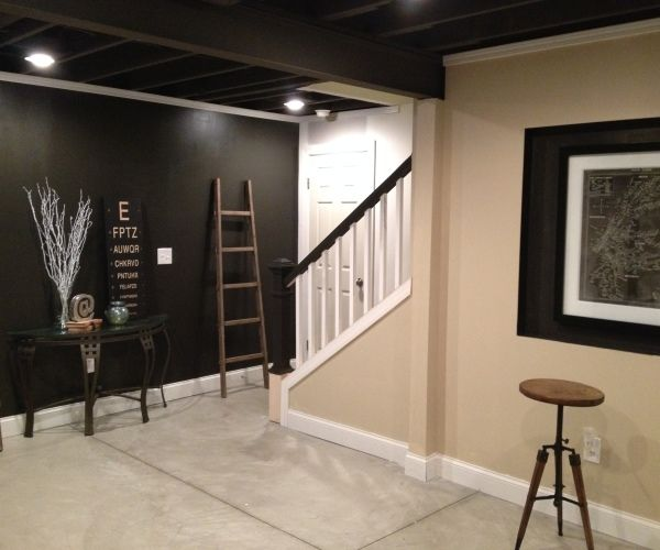Best 25 industrial basement ideas on pinterest Basement ceiling color ideas